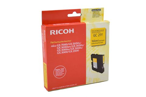 Ricoh (GC21Y) GX 3000 / 3050N / 5050N / 7000 Yellow Liquid Gel C