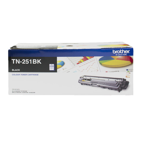 Brother TN-251 Black Toner Cartridge - 2,500 pages