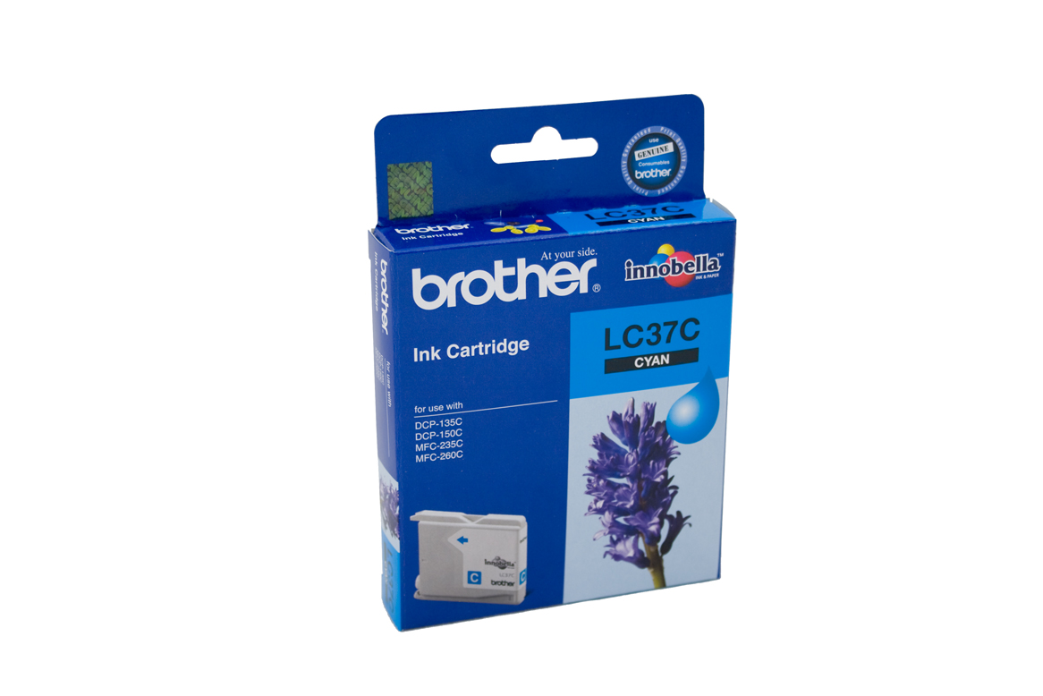 Brother LC-37C Cyan Ink Cartridge - 300 pages