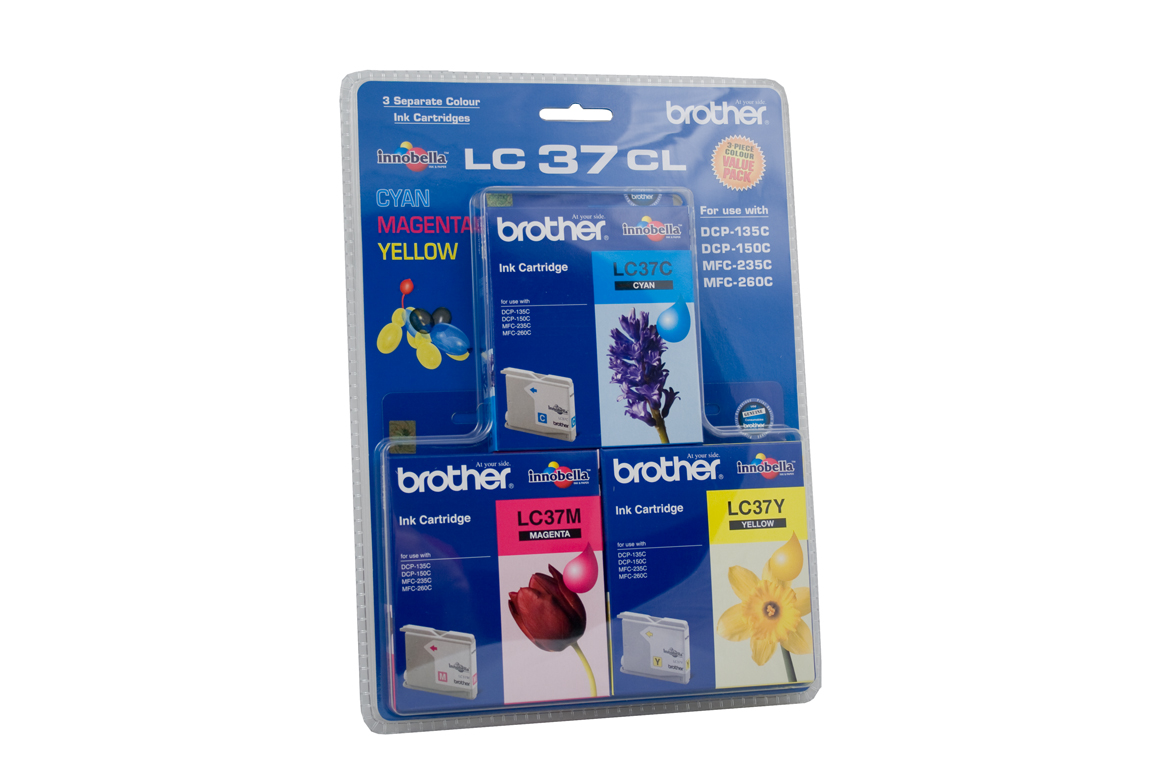 Brother LC-37 Colour Pack - Cyan, Magenta & Yellow  - 300 pages