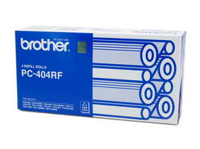 Brother PC-404 Print refill rolls x 4 - 144 pages