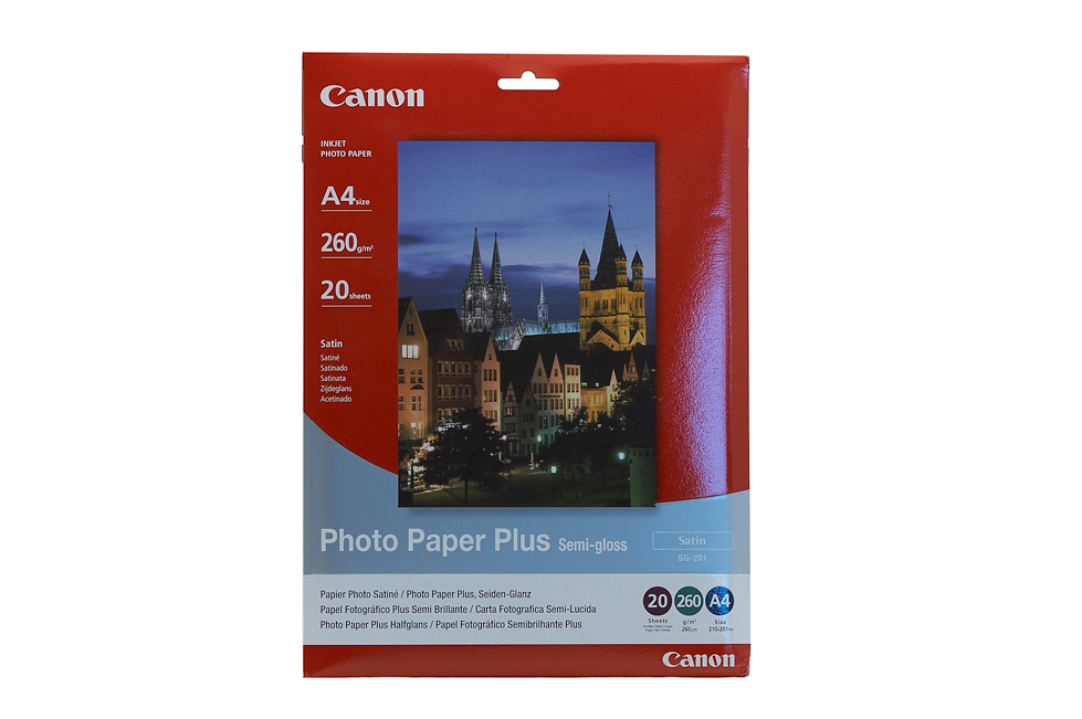 Canon Semi Gloss Photo Paper A4 20 Sheets 260gsm