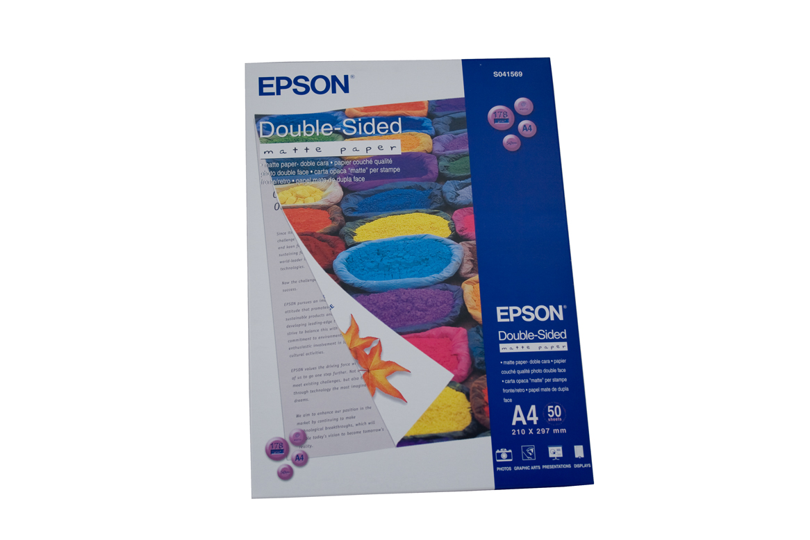 Epson Double Sided Matte Paper A4 50 Sheets 178gsm