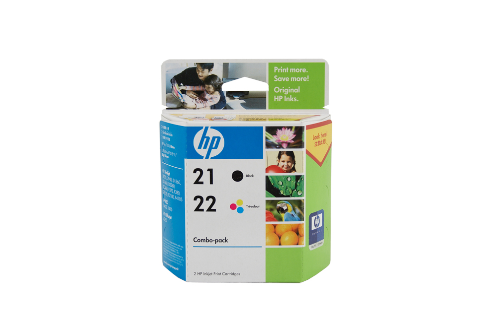 HP 21 & No.22 Combo Pack (C9351AA & C9352AA) - black, 185 pages