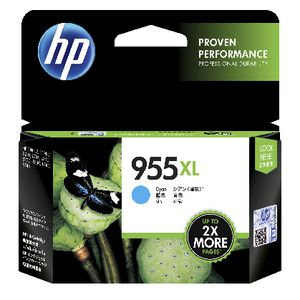HP #955XL Cyan Ink Cartridge - 1,600 pages