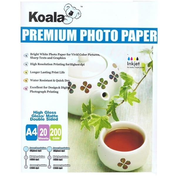 Koala High Gloss/Matte  Double/Sided 200gsm (20 sheets)