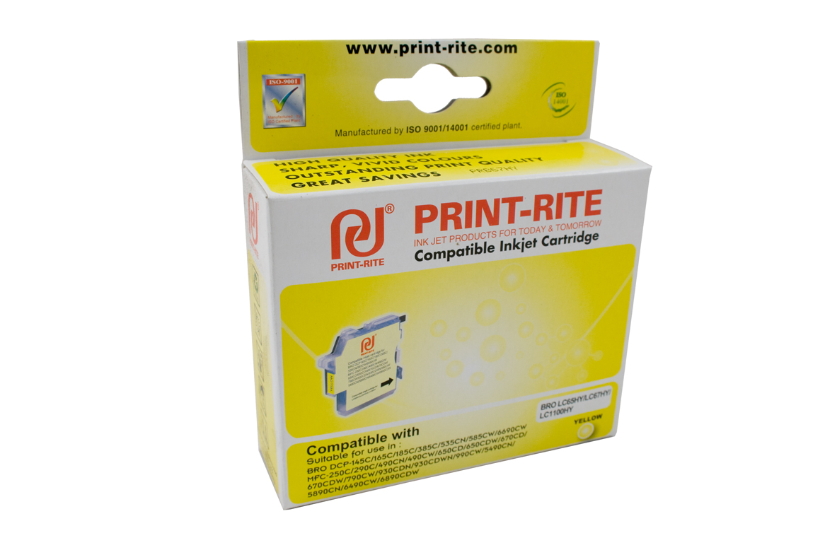 Print-rite  Brother LC-67Y Yellow Ink Cartridge High Capacity