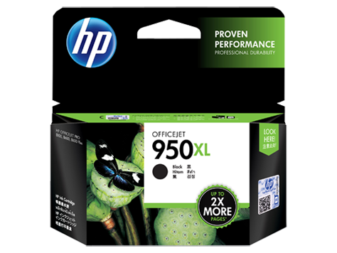 HP #950XL Black Ink Cartridge - 2,300 pages